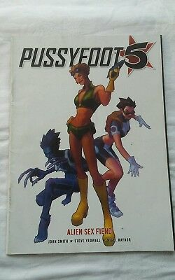 2000 AD MAGAZINE pussyfoot 5 alien sex fiend bagged with MEG 281
