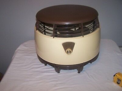 Mid Century Sears Roebuck 3 SPEED HASSOCK FLOOR FAN SPACESHIP STYLE