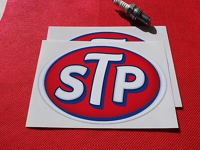 "Pair of 6"" STP stickers"