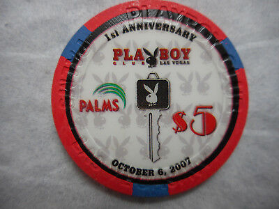 $5 PALMS Playboy First Anniversary Casino Chip - Leroy Neiman