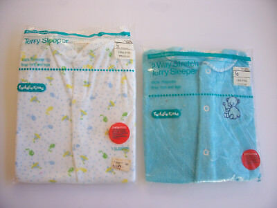 Vintage Terry Cloth Baby Sleepers ( Size 1/2 ) Lot of (2) 1960's New Buy it Now