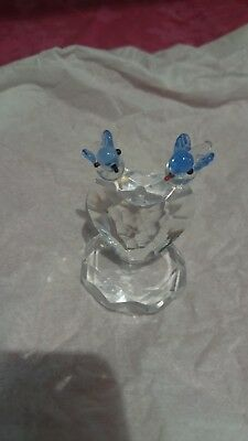 Swarovski Crystal Heart With 2 Birds