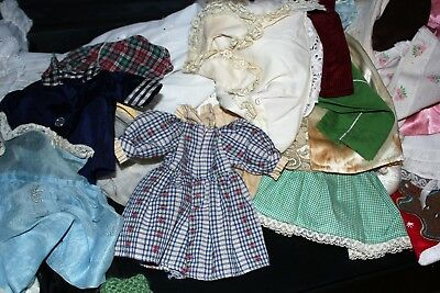 Huge lot of Antique and Vintage Doll Clothes 118 pieces