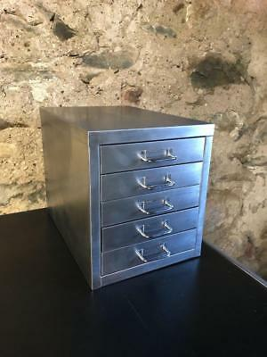 Industrial Stripped Metal 5 Drawer Filing Cabinet A4 Size