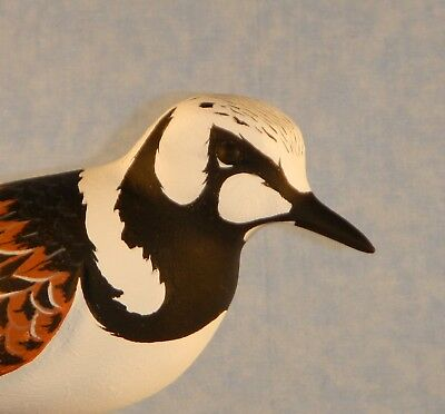 Ruddy Turnstone Shorebird Decoy Individually Hand Carved/Painted Harold Van Dyck