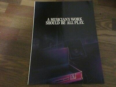 Sequential Circuits  - Prophet T8 Keyboard 1983 Extended Magazine Insert