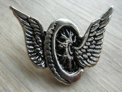 MOTORRAD Pin / Pins: Double WINGS on WHEEL - Biker- Motorcycle - 3,5 cm groß