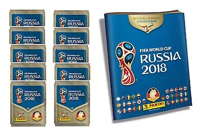 Panini WM 2018 Russia World Cup Album + 10 Tüten / 50 Sticker Sammelalbum