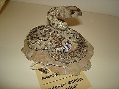 Coiled Rattlesnake  Figurine     American Legacy    Desert Heritage Collection