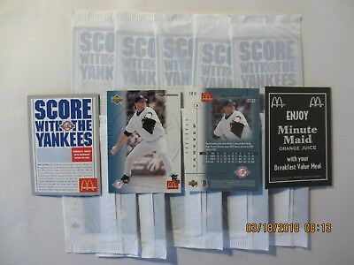 2003 McDonald's Yankees Roger Clemens - 2 sealed cello packs