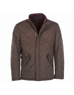 Barbour Men's Powell Quilted Jacket - Olive MQU0281OL51 Size M