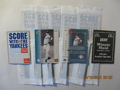 2003 McDonald's Yankees Mike Mussina - 2 sealed cello packs