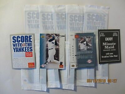 2003 McDonald's Yankees Bubba Trammell - 2 sealed cello packs