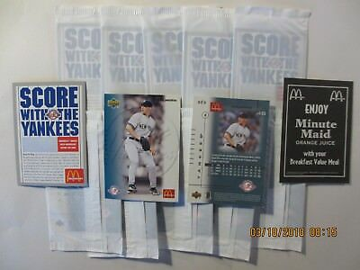 2003 McDonald's Yankees Andy Pettitte - 2 sealed cello packs