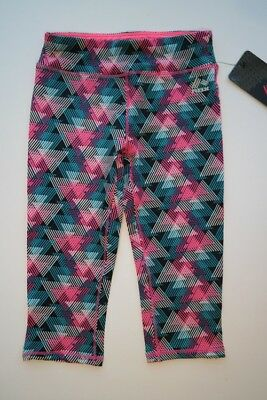 NEW RBX Pink Teal Black White Athletic Sports Yoga Pants Capri Leggings Girl 5/6