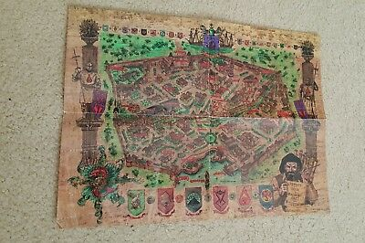 Vintage Dungeon & Dragons 1998 Baldours Gate Sea Of Swords Coast Map
