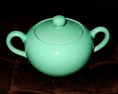 Sugar Bowl/Lidded/Perrings/Croydon/Surrey/Collectable/Green/Pot/Pottery/1970's