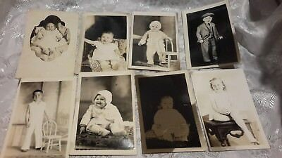 Vintage Picture Post Cards Lot  PICTURES of 8 ADORABLE Children