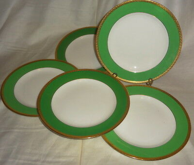 """e1900 Set/6 MINTON'S gold encrusted #ASY-9816 pattern 7 3/4"""" PLATES"""