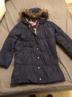 Joules Girls Coat Padded Parka Style Age 8 Years