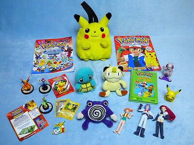 Pokemon Plüsch Figuren + Tasche + Sticker Album Merlin + 600 Sticker Buch Panini