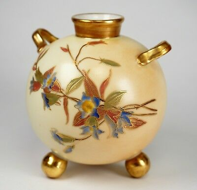 Royal Worcester Blush Small Ball Hand Painted Porcelain Vase 415 - RARE