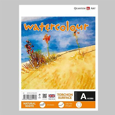 Watercolour TORCHON Surface Pad Drawing Artist Paper  - GUMMED - Book - 250gsm
