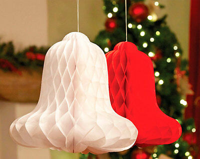 paper decorations Bell honeycomb red and white hang celebration weddings parties