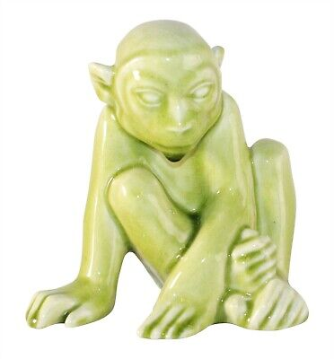 Rookwood Pottery 1948 Green Monkey Paperweight or Bookend 6501 (Abel)