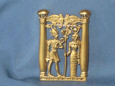 Vintage Gold-Tone Metal Egyptian Revival Pin Brooch