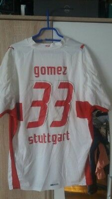 mario gomez vfb stuttgart 17 18 2017 2018 orig sign ak. Black Bedroom Furniture Sets. Home Design Ideas