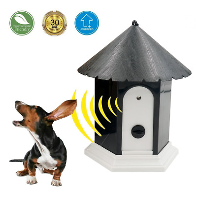 Ultrasonic Outdoor Anti Barking Deterrent - Bird House Shaped Sonic Bark Control