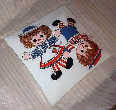 Rageddy Ann & Andy Ceiling Glass Light Cover Kiids/baby Room Decor Vintage Rare