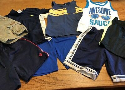 Boys Clothes Lot Of 8 Size 4T Carter's Oshkosh Spring Summer