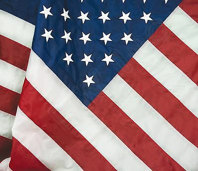 3x5 American Flag Made In USA Stars Embroidered Sewn Grommets Stripes Nylon