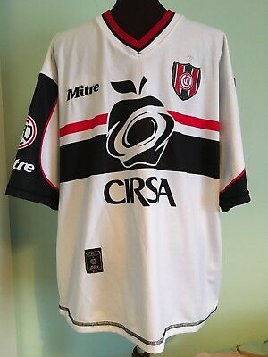 Official Ca Chacarita Juniors (B.aires) Football Shirt By Mitre Adult X-Large