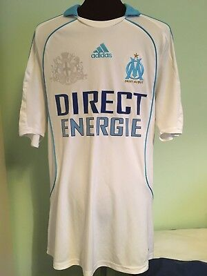 Official Adidas Marseille Home Football Shirt Size Adult Medium