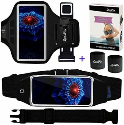 Cell Phone Armband + Running Belt for iPhone 8 Plus 7 Plus 6s/6 Plus, Galaxy s8