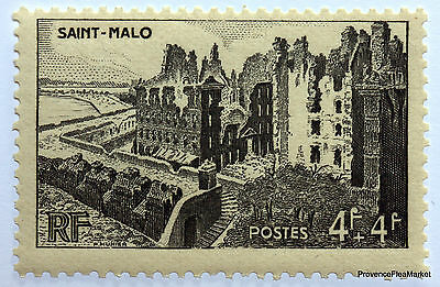 Stamp France Mint N° 747 City Claim The Remparts Holy A Malo Aca3