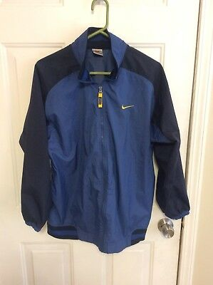 a87f7d5dea VTG Nike Windbreaker Jacket Youth SZ XL Adult S M EUC Blue Black Yellow Big
