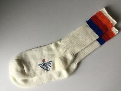 Vintage NOS United Airlines Socks Hi-Bulk Stripe Orlon Tube Size 10-13 Mens