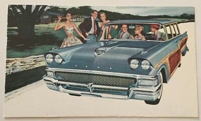 Cin., Oh. 1957pm Adv. Pc For '58 Ford 9-passenger Country Squire
