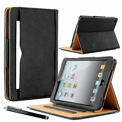 Luxury Real Leather Wallet Smart Stand Case Cover for iPad 234 Air 2017/18 Mini
