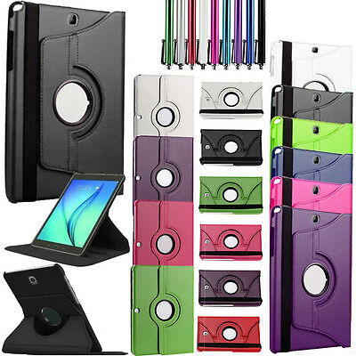 New Galaxy Tablet Rotating Smart Leather Case Cover for Samsung Galaxy Tab A E 4