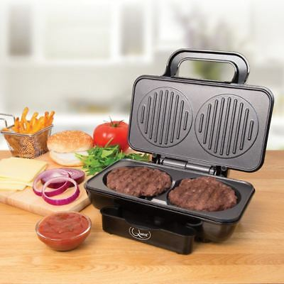 Electric Double Hamburger Maker Burger Press Meat Beef Quarter Pounder Patty