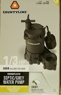CountyLine Thermoplastic Septic/Grey Water Pump 033H16N 1/3 HP
