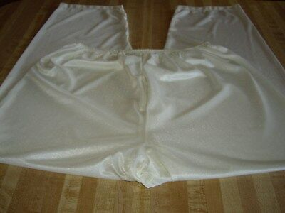 Vintage Sears Lingerie  Pajama Pj Bottoms Pants Sz Large Color Ivory Nylon