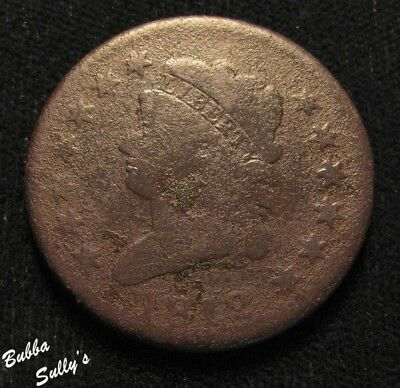 1812 Classic Head Large Cent <> VERY GOOD