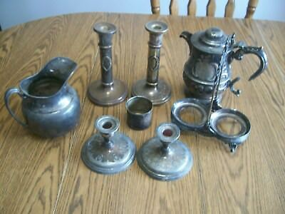 lot of scrap silverplate for repurpose steampunk gothic arts and crafts