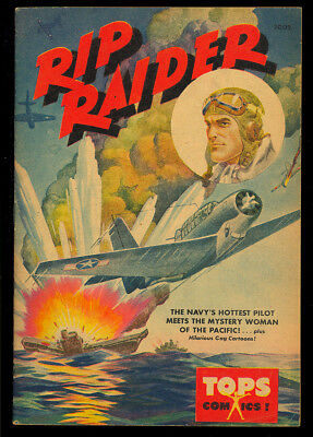 Tops Comics #2002 (Rip Raider) Nice Hard to Find WWII War Comic 1944 FN-